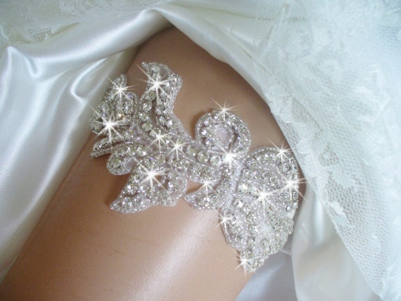 Items Similar To Rhinestone Garter Belts Wedding Garter Bridal Accessories Crystal Garter