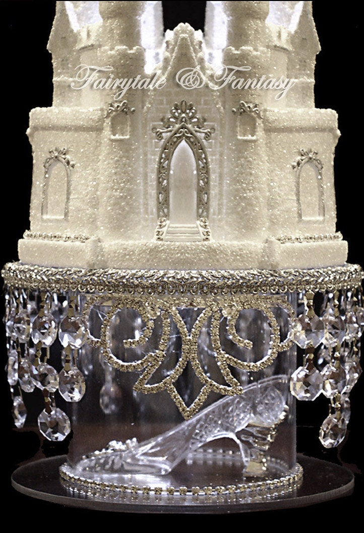 cinderella castle wedding cake toppers cinderella castle cake topper wedding fairytale with swarovski 12854
