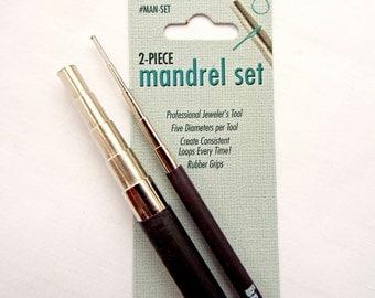 2 Pc Mandrel Set, BeadSmith Mandrels, Jewelry Mandrel, Loop Making, 10 Loop Sizes, Steel Mandrel, Looping Mandrel, Wire Tool, UK Seller