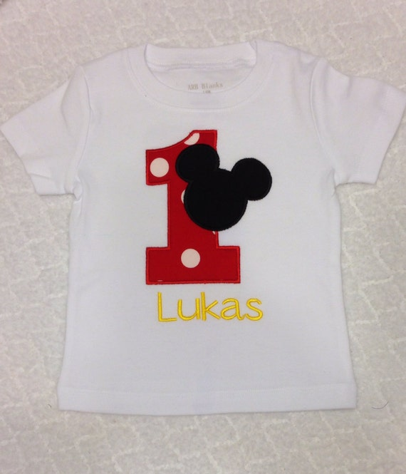 Items Similar To Mickey Or Minnie Mouse Applique Shirt Or