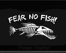 Popular items for fear the fish on etsy for Fear no fish