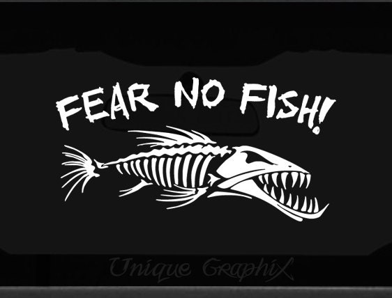 Fear no fish decal window boat sticker for Fear no fish