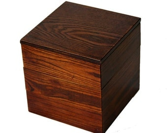 Japanese Bento Lunch Box Natural Wood 3 Tier Lacquer Boxes