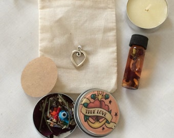 Pocket Altar Love Fidelity Prayer/Intention Container Conjure Rootwork Herb Magic Hoodoo Gypsy Magic Witchcraft