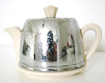 Tea for one! Chrome and Ceramic Art Deco Teapot