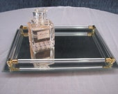 Vintage Mirrored Perfume Display Tray