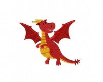 Red Dragon Machine Embroidery Design