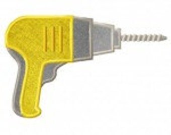 Electric Drill Includes Both Applique and Stitched