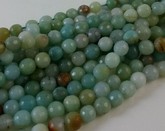 3 Full Strands  6mm  Amazon Faceted Beads   Wholesale  Gemstone  B