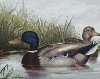 Ducks on Pond PDF Cross Stitch Pattern