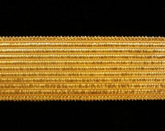 "821.2 Metallic galloon trim - ""Military Stripe"" bright gold -  3/4"" (19mm)"