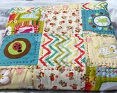 Baby Pram Quilt Blanket - 100% cotton pram quilt  modern hand quilted baby pram size blanket pram buggy stroller quilt