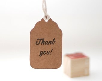 Thank you stamp, Wedding stamp, Etsy shop supplies, Scrapbooking stamp for handmade tags, 1 x 1 inches, tag marking stamp, S11