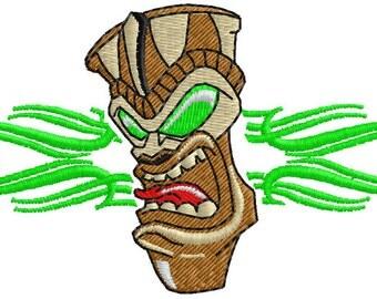 Tiki Embroidery Design