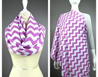 Chevron scarf, Nursing cover  scarf, nursing cover, nursing scarf, breastfeeding cover, nursing infinity scarf, Pink scarf
