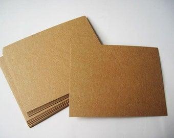 20pcs - 350gram Kraft Paper Blank Postcard / Cardstock *KP005*
