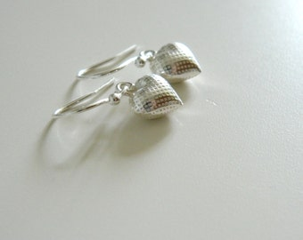 Petite Heart Earrings, Sterling Silver