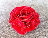 Duct Tape Rose Hair Clip