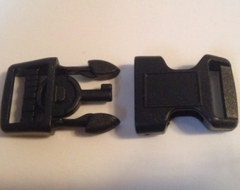 "SALE! 5/8"" Black Plastic Handcuff Key Buckle  ( For Making Police Paracord Bracelets )"