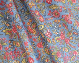 Dutch Chintz - Les Petits Bouquets CLEAR BLUE 1/2 yd