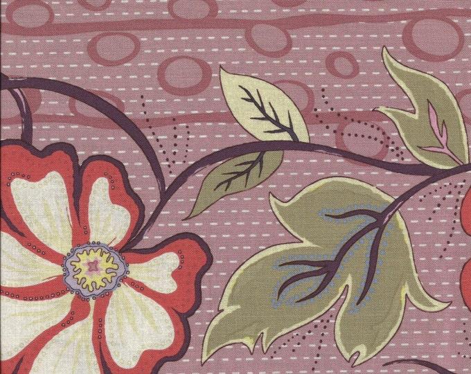 A Wandering Mind - Flowering Vine - Rose - 1/2 yd