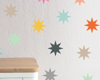 Colorful Magical Starbusrts - WALL DECAL