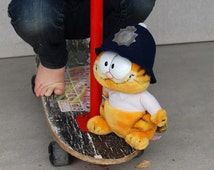 "Stuffed Garfield English Bobby Police comic strip Character Plush Animal size 10"" Tall by R. Dakin & Co."