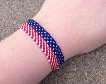 The American Flag Friendship Bracelet