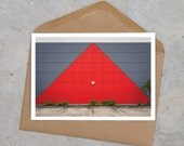 red + grey bright industrial postcard