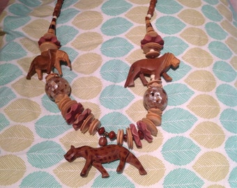 Wooden Animal Necklace #2