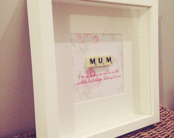 Mum Scrabble Frame