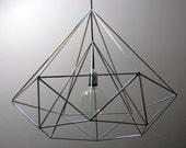 Himmeli Light Diamond Pendant Cage Geometric Silver Lamp Original Himmeli Art Panselinos