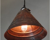 Antique Funnel Pendant Light Fixture Hand Made Chandelier old Factory Style