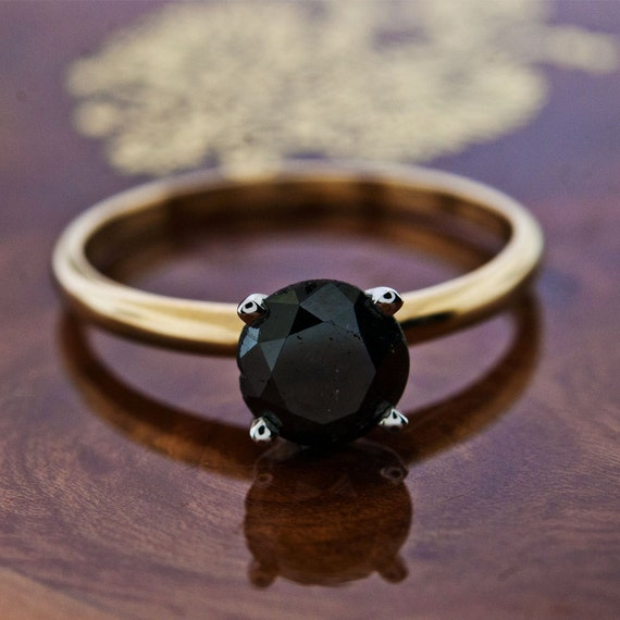 1 05CT Black Round Real Diamond 14 solid by GetDiamondsDirect