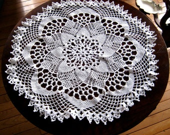 Free Crochet Patterns Round Table Toppers : Free Crochet Table Topper Patterns Dog Breeds Picture