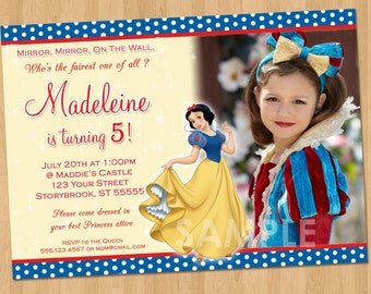 Snow White Invitation - Snow White Party - Personalized Princess Snow White Birthday Party Invite - Snow White Printable -Disney Princess