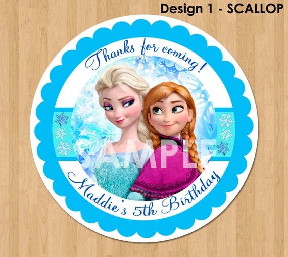 Frozen Favor Tag Or Label Disney Frozen Birthday Party Favor