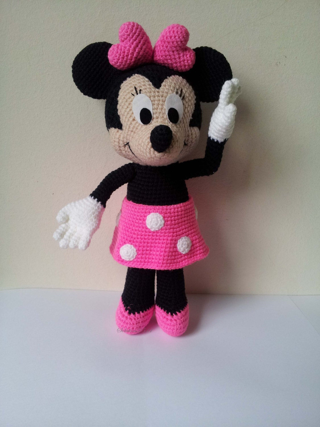 Crochet Patterns For Minnie Mouse : Minnie Mouse crochet doll birthday gift christmas giftBaby