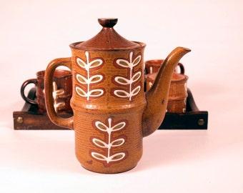 Vintage 1970's Made in Japan 8 piece ceramic tea set
