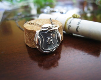 Initial Wax Seal Necklace