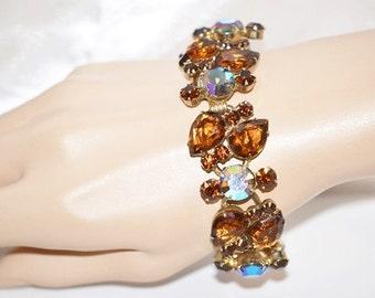 Vintage Juliana Topaz Aurora Borealis Bracelet