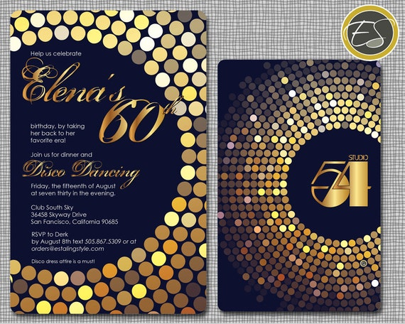 Items Similar To Mirror Ball Studio 54 Birthday Or