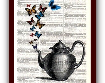 Kitchen Decor Home Art Teakettle Art Print: musical Notes Art Print