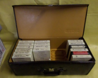 Vintage TDK 8 Eight Track Tape Carrying Case with 16 8 EightTrack Tapes