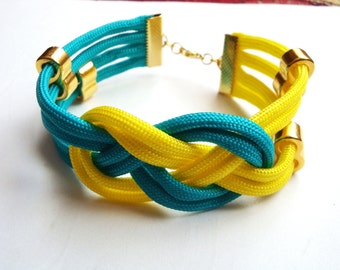 nice and colorful bracelet, exellent for summer, josephine knot, macrame