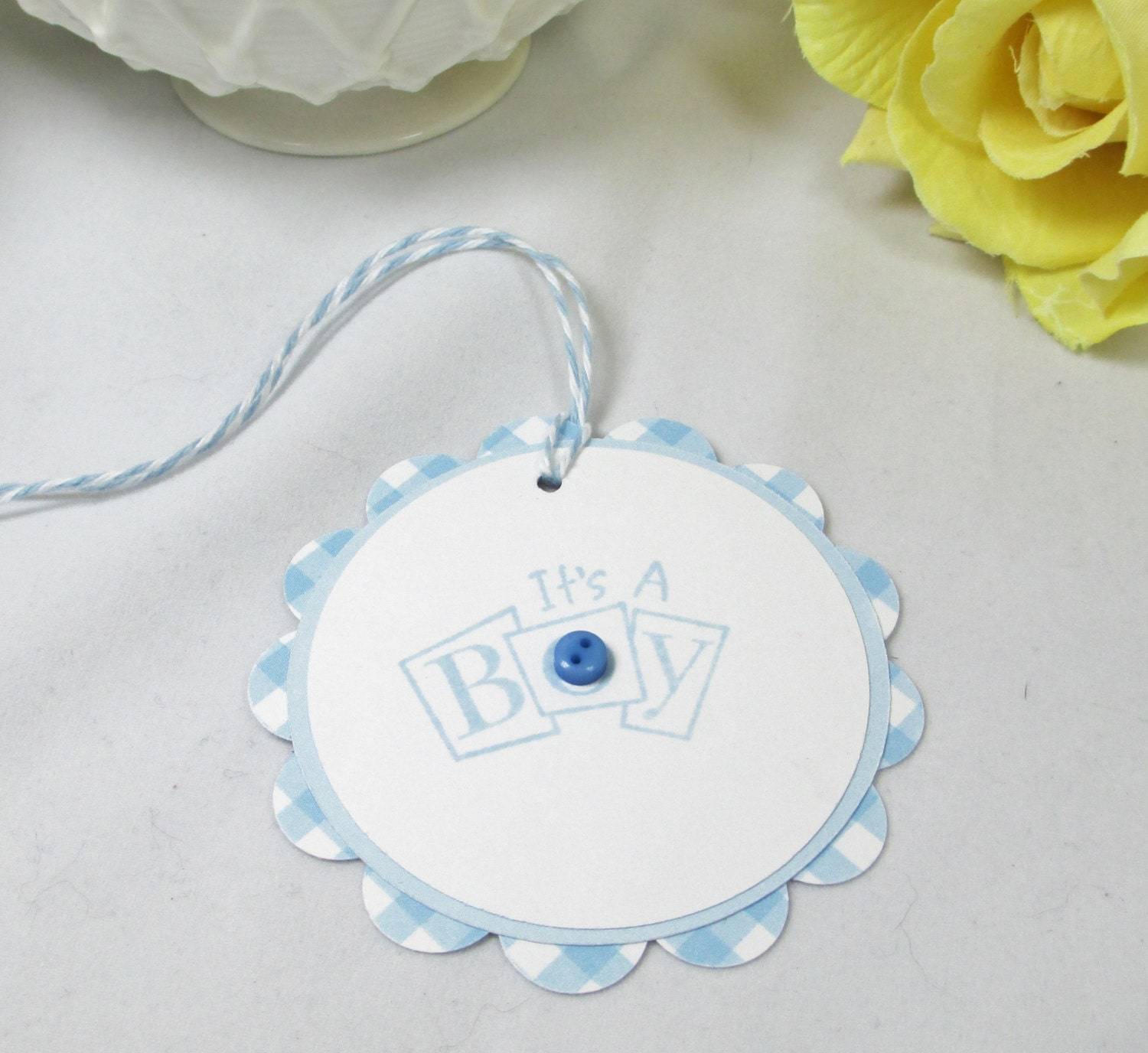 10 Baby Tags Gift Tags Boy Baby Shower Favor