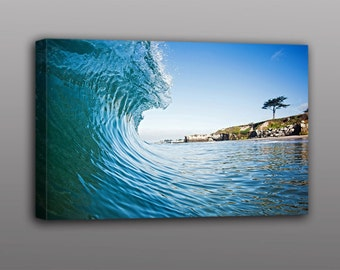 8x12 and Larger Canvas Print Ocean Wave Surfing Photo Art