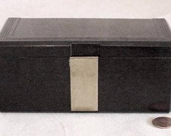 Antique Art Deco BENSON & HEDGES Carved Bakelite Humidor or Cigar/Cigarette Box RARE