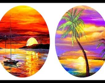 Digital Collage Sheets - Digital Download Sheets - Jewelry Collage Sheets - 30 x 40mm Ovals - Jewelry Ovals - Pendants - DDP127/128/129