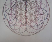 Ovals in Gold - flower of life